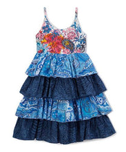 Blue Frill Dress - Kids Clothing, Dress - Girls Dress, Yo Baby Online - Yo Baby