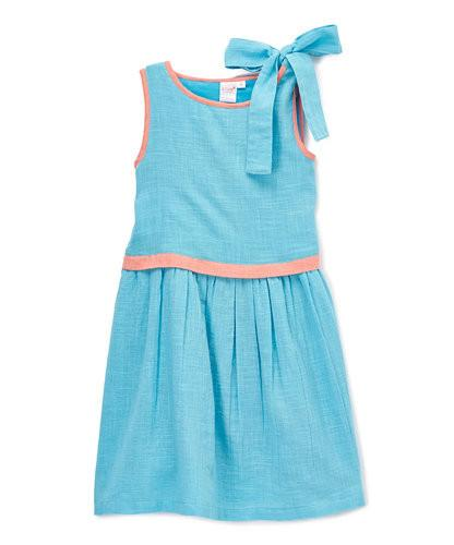 Blue And Pink Peek-a-boo Dress