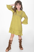 Lime Green Lace Detail Dress - Kids Clothing, Dress - Girls Dress, Yo Baby Online - Yo Baby