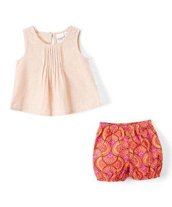Dusty Rose Pink Top and Shorts 2pc.set Top and Bottom - Kids Clothing, Dress - Girls Dress, Yo Baby Online - Yo Baby
