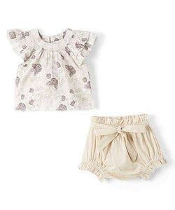 Butterfly Top and Shorts 2pc.set Top and Bottom - Kids Clothing, Dress - Girls Dress, Yo Baby Online - Yo Baby