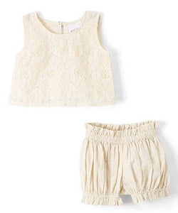 Net Top and Shorts 2pc.set Top and Bottom - Kids Clothing, Dress - Girls Dress, Yo Baby Online - Yo Baby