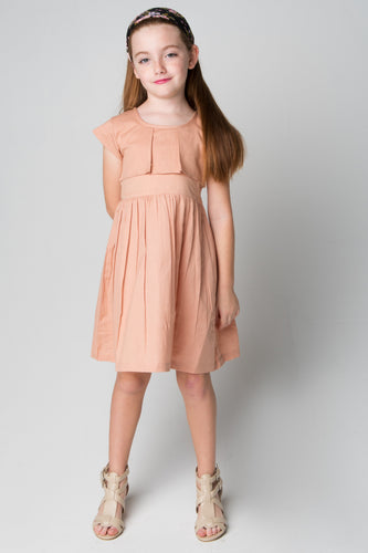 Blush Layered Dress With Belt Tie