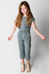 Powder Blue Jumpsuit - Kids Clothing, Dress - Girls Dress, Yo Baby Online - Yo Baby