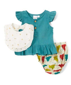 Triangle Print 3pc. Set - Kids Clothing, Dress - Girls Dress, Yo Baby Online - Yo Baby