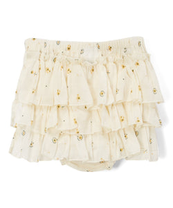 Cream Ruffled Diaper Cover and White Pintuck Top  2pc.set - Kids Clothing, Dress - Girls Dress, Yo Baby Online - Yo Baby