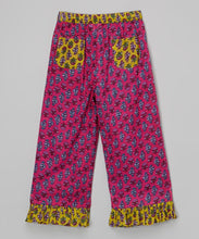 Pink With Mustard Trimming Pants - Kids Clothing, Pants - Girls Dress, Yo Baby Online - Yo Baby