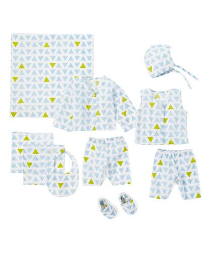 10pc. Blue and Green Layette Set - Kids Clothing, 10-pc. set - Girls Dress, Yo Baby Online - Yo Baby
