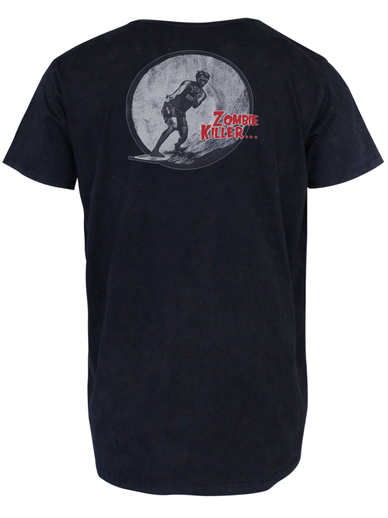 MEN T-SHIRT WASH ZOMBIE KILLER