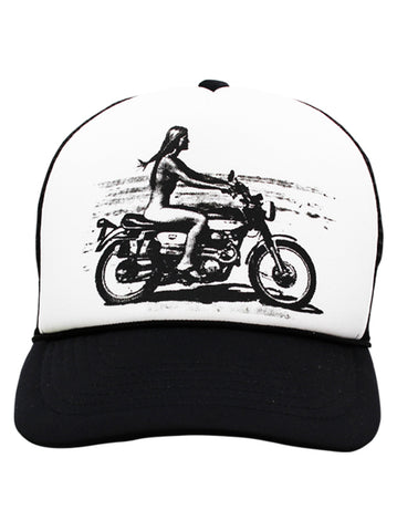 Cap Rebel rider B&W