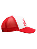 Trucker cap Fishing team red & white