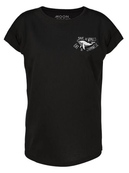 Women T-shirt Roll Save The Whales