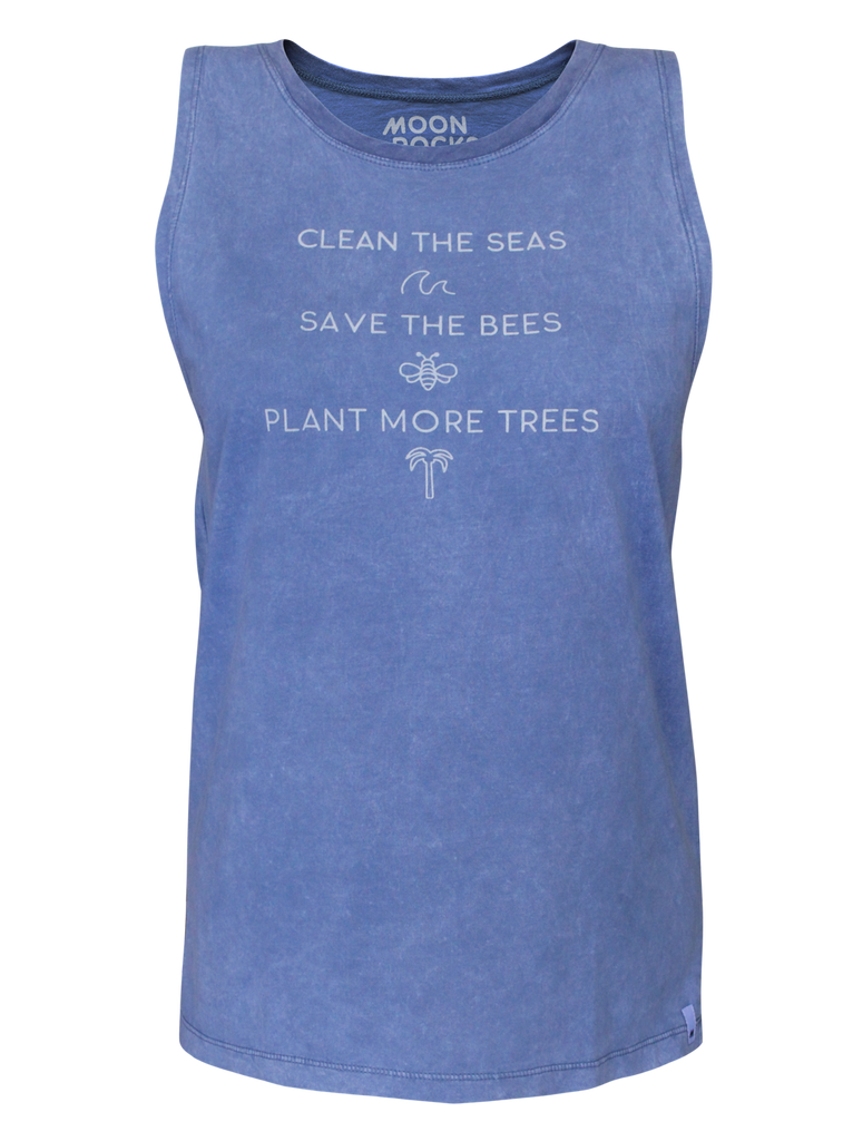 Women Singlet Laut Wash Clean The Seas