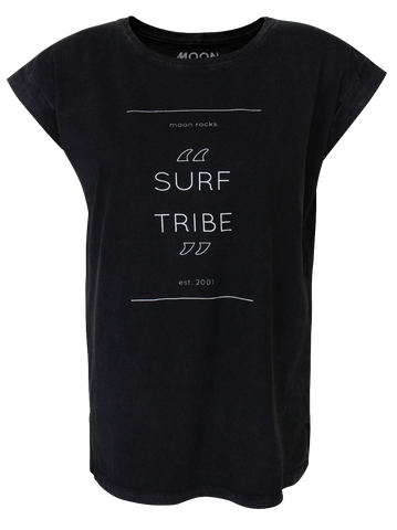 Women T-shirt Roll Wash Surf Tribe
