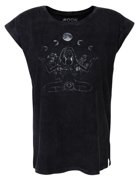 Women T-shirt Roll Wash Yin Yoga