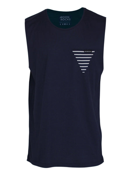 Men Singlet Pocket Tri. Navy