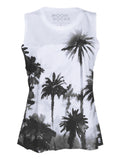 Women Singlet Jalan Palm Paint