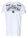 Men T-shirt Live Different Back