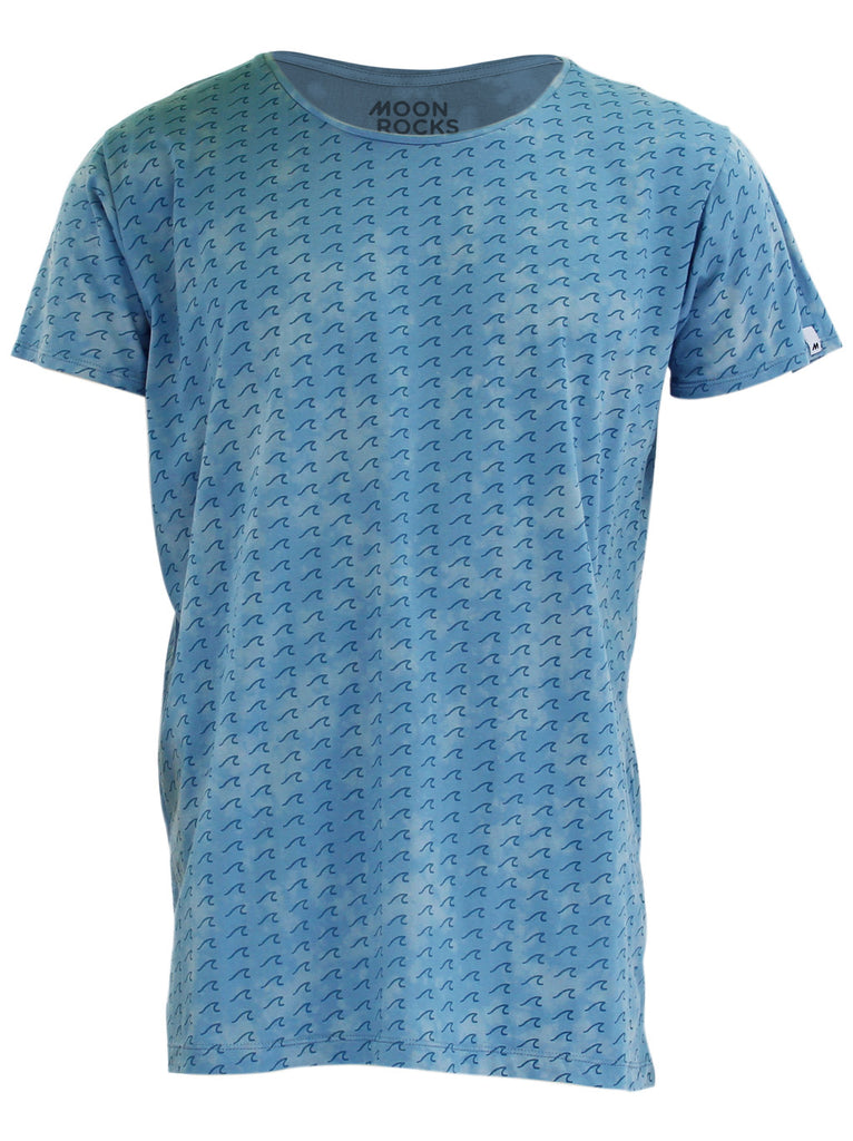 T-shirt Acid Waves smoke blue