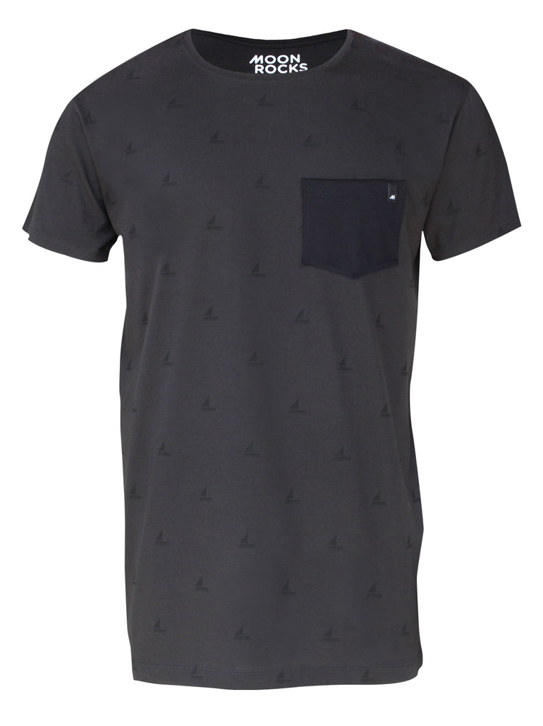 Men T-shirt Pocket Txalupa