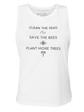 Women Singlet Laut Clean The Seas