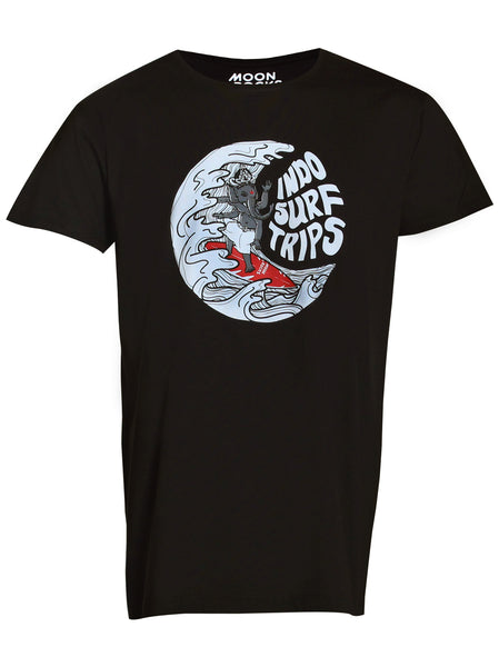 Men T-shirt Indo Surf Trips Big