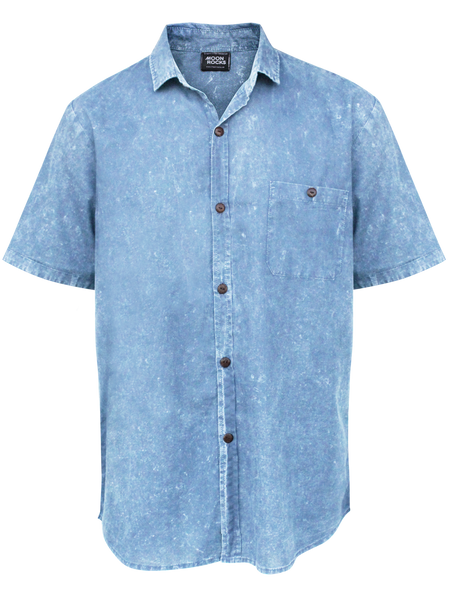 MEN SHIRT BLUE WASH CATT