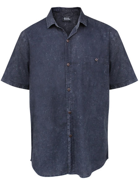 MEN SHIRT BLACK WASH CATT