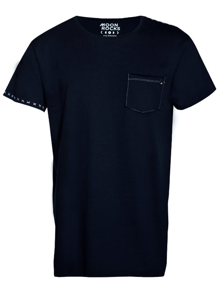 Men T-shirt Pocket Star