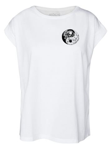 Women T-shirt Roll Yin Moon