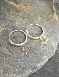 SE186B - 14MM HOOP WITH 6MM STAR CHARM