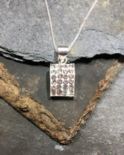 Load image into Gallery viewer, SP151BC - CLEAR RECTANGULAR CZ  PENDANT