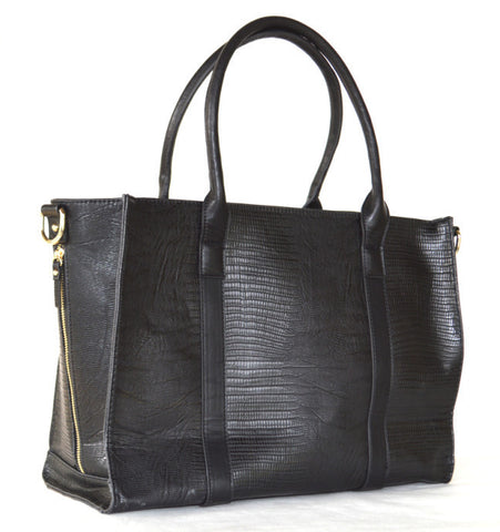 Juno Blu Esalen Pump Bag  - Black Lizard