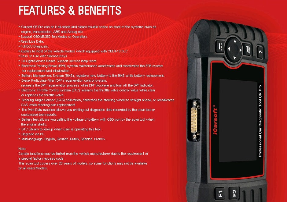 Other Diagnostic Tools - iCarsoft CR Professional Multibrand Multi