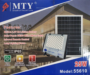 MTY 25Watt Solar LED Outdoor Floodlight