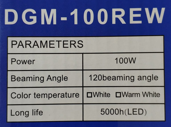 Digimark DGM-100REW 100Watt Solar LED Outdoor Floodlight