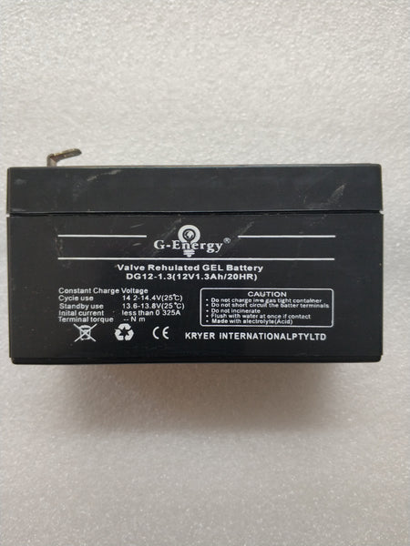 G-Energy 1.3ah 12v Valve Regulated GEL Battery