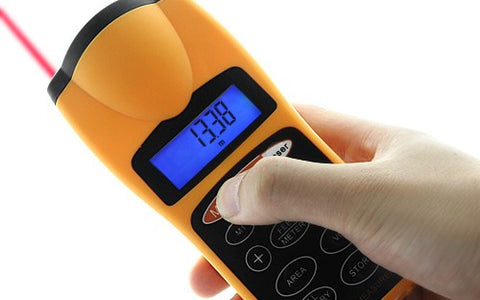 Ultrasonic Distance Measurer with Laser Pointer