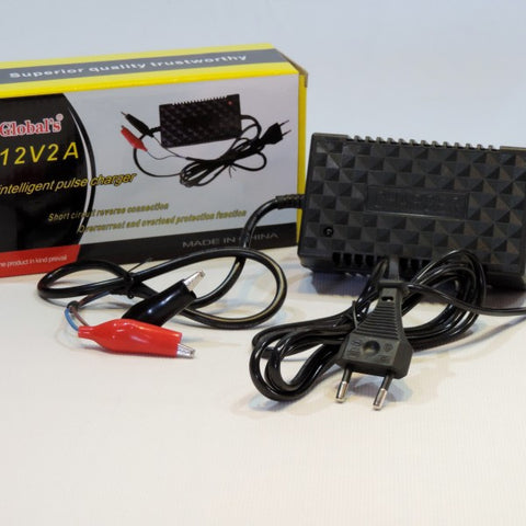 12V 2A Intelligent Pulse Battery Charger - Electromann SA