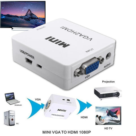 1080P Mini VGA To HDMI Converter