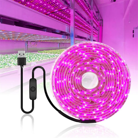 3M USB LED Full Spectrum Hydroponic Grow Light Strip
