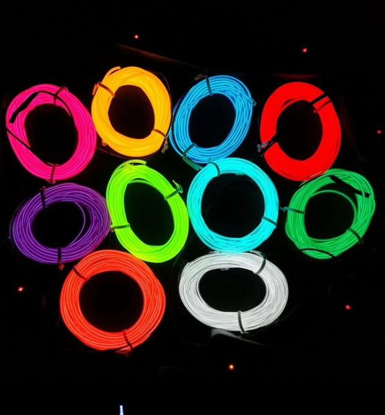 3m Neon Light Electroluminescent Wire - Electromann SA
