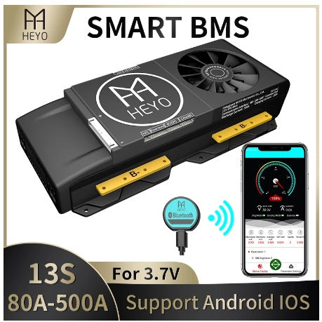 13S 250Amp 48v Lithium Battery BMS with Bluetooth