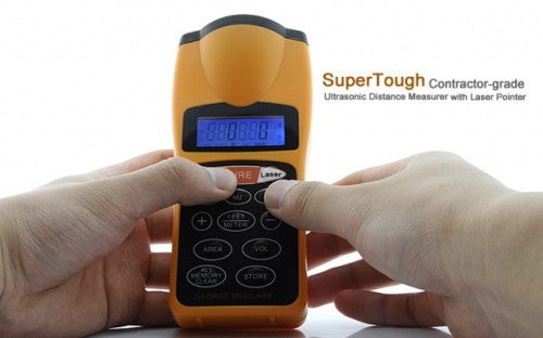 Ultrasonic Distance Measurer with Laser Pointer - Electromann SA