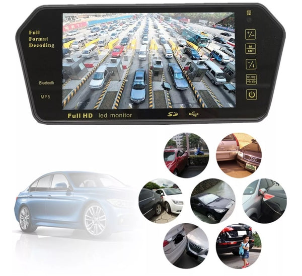 7 Inch TFT LCD Car Bluetooth Rear View Parking Kit - Electromann SA