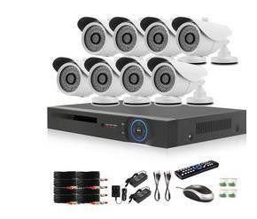 8 Channel AHD CCTV Kit (1.0MP Camera's) - Electromann SA