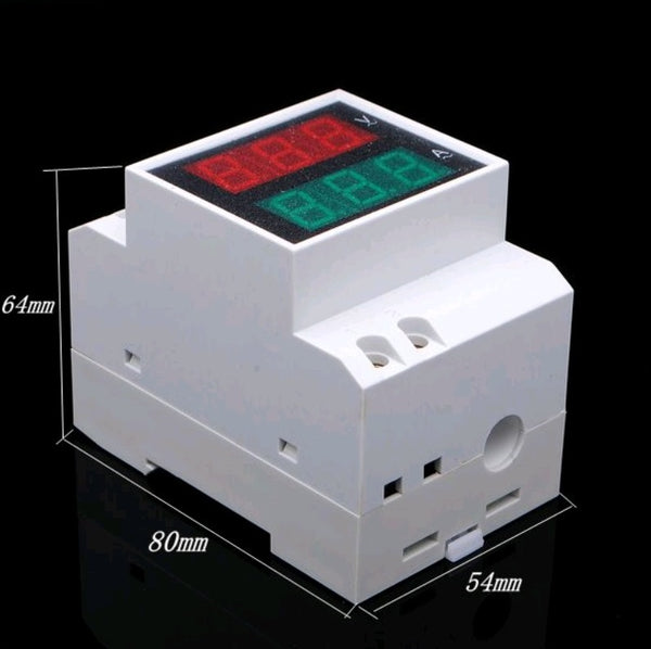 AC 80-300V Din Rail LED Dual Display Volt Meter/Ammeter