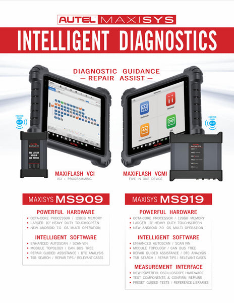 Autel MaxiSYS MS909 | OEM-level Diagnostic Scanner‎ with J2534, Topology & Intelligent Diagnostics | ON PROMO