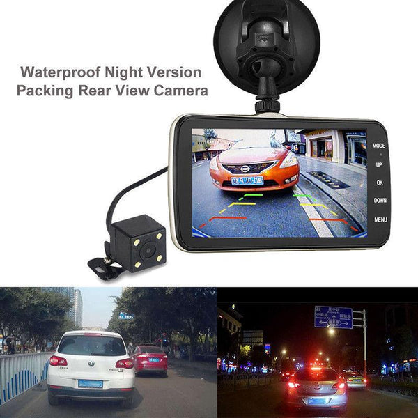 "4"" IPS HD Car Camera DVR Rearview Dash Cam - Electromann SA"