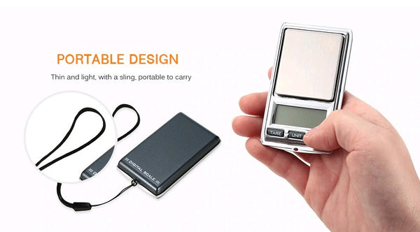 100g / 0.01g Mini Digital Portable Pocket Scale - Electromann SA